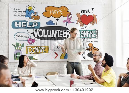 Volunteer Charity Give Help Share Service Concept