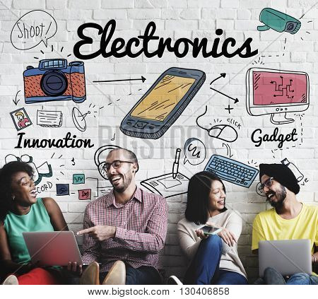 Electronics Digital Devices Technology Concept