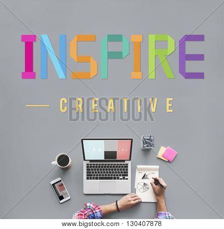 Inspire Hopeful Believe Aspiration Vision Innovate Concept