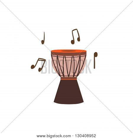 National Brazilian Drum Flat Isolated Colorful Vector Design Illustration On White Background