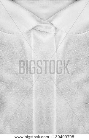 White silk blouse collar closeup as a background