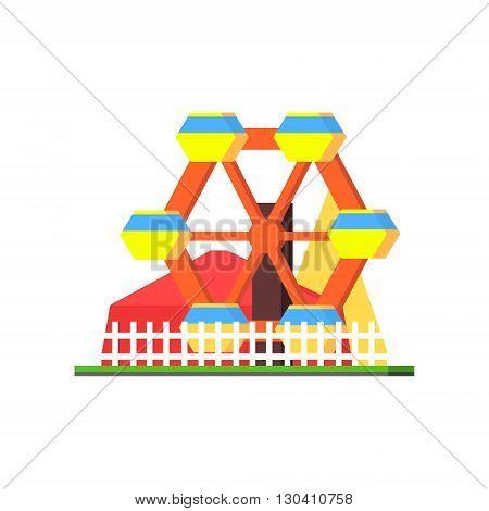 City Amusement Park Vector Design Simple Graphic Illustration On White Background