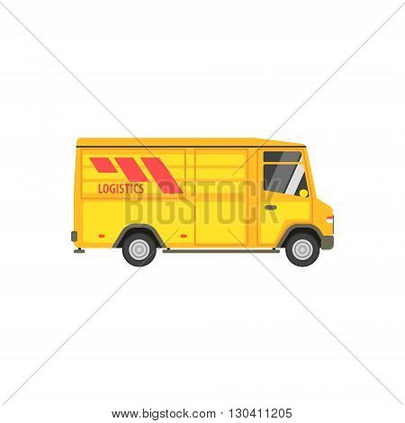 Small Cargo Bus Vector Design Primitive Graphic Illustration On White Background