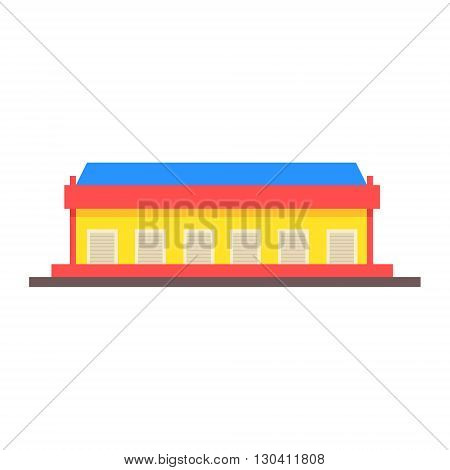 Dock Storehouse Building Vector Design Primitive Graphic Illustration On White Background