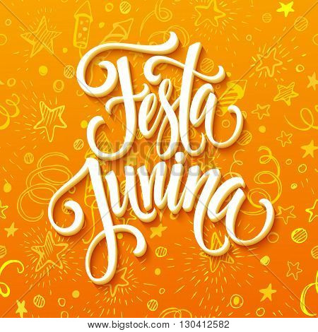 Festa Junina party greeting design. Vector illustration EPS10