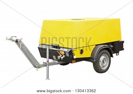 Yellow compressor isolated on a white background