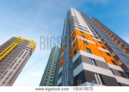 New modern architecture, panel building   Russia, Saint-Petersburg