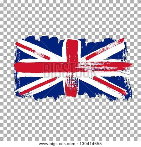 Flag of Great Britain on an empty background. Vector art.