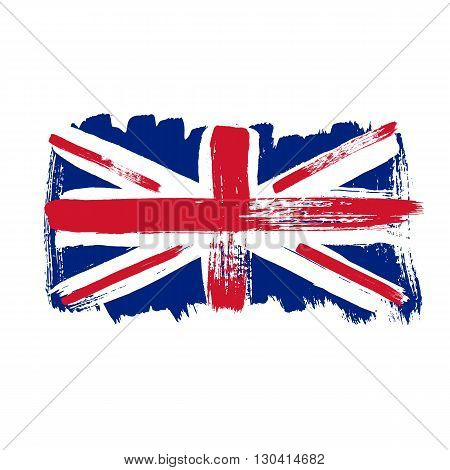 Flag of Great Britain on a white background. Vector art.