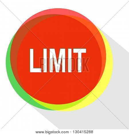 limit. Internet template. Vector icon.