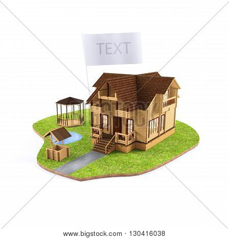 plot with selling house model. conceptual image