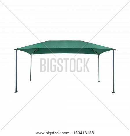 Green garden tent isolated on a white