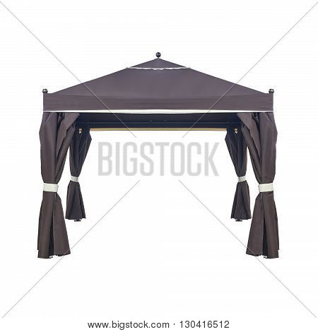 Brown luxury garden tent isolated on a white