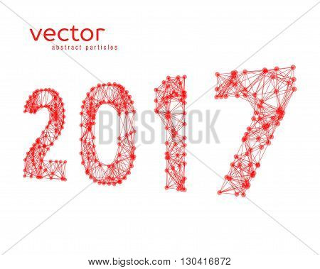 Abstract vector illustration of number 2017. EPS 10