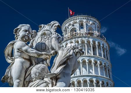 Leaning tower - one of seven world wonders in Italy, Pisa.