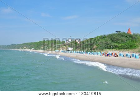 Beach of Rerik in Mecklenburg western Pomerania at baltic Sea,Germany