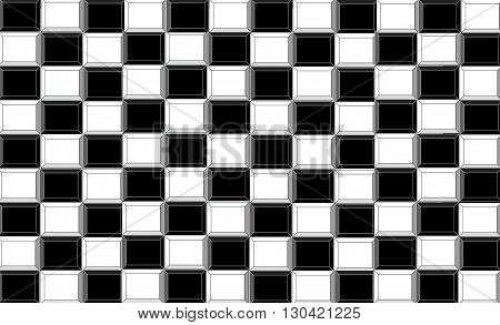 Black  and white  The painting depicts a black and white background as a way (gains and losses) to the top, to win.