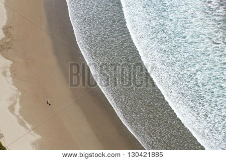 Ariel View On Beach