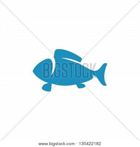 Fish Icon. Fish logo. Vector design element. Abstract emblem, graphic design concept. Logotype element for template. Vector illustration on white background - stock vector