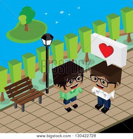 Geek Couple Lover In Romance Love