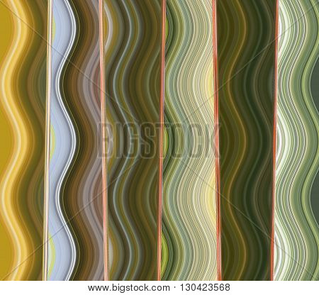 Pattern wave green yellow red computer graphic design for copy double to print the product Textile fabric wrapping paper pencils Curtains sheets bedspread shirt or background