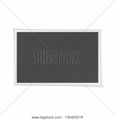Photo Frame realistic Template isolated on white Background. Vector Illustration
