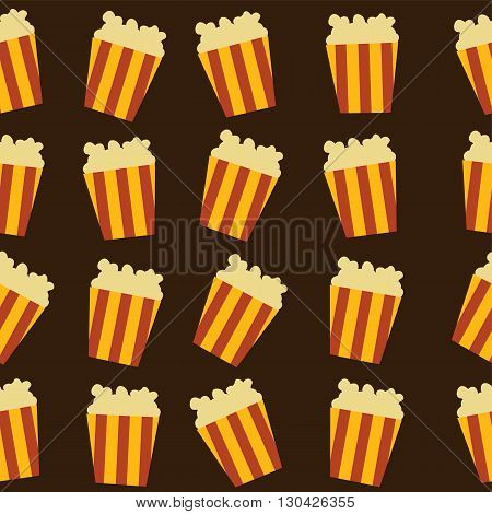 tasty pop corn theme vector art illustration
