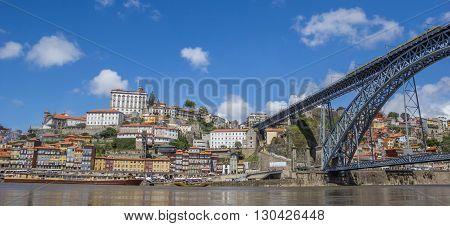 Panorama Of Bridge Ponte Luis I And Skyline Of Porto