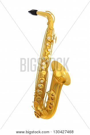 Saxophone Isolated on white background. 3D render