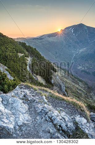 Dawn On Mountains Ridge