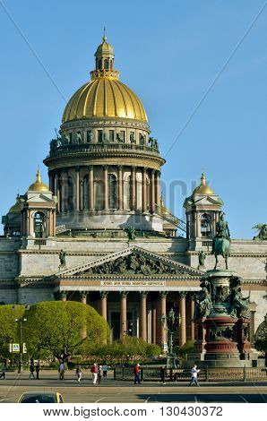 Russia.St. Isaac's Cathedral-the Museum of religion in St. Petersburg.One of the main attractions of the city.