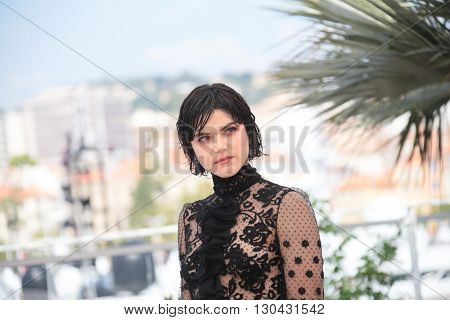 Actress SoKo attends the 'The Stopover (Voir Du Pays)' photocall during the 69th Annual Cannes Film Festival at the Palais des Festivals on May 18, 2016 in Cannes, France.