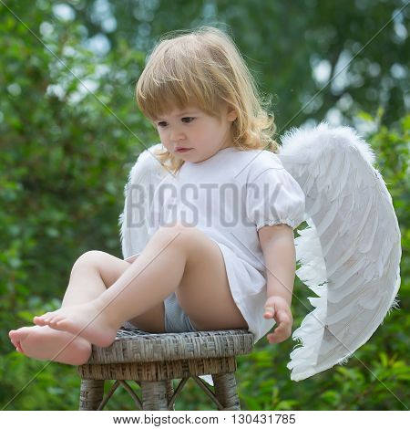 Little Cupid On The Chair