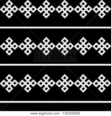Monochrome ethnic pattern. Slav, scandinavian, ukrainian, style.