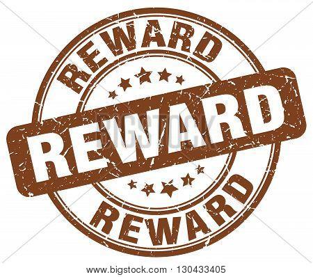reward brown grunge round vintage rubber stamp