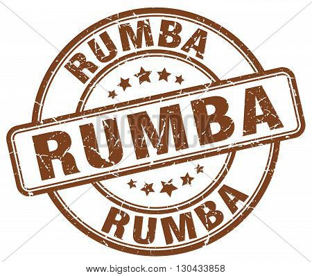 rumba brown grunge round vintage rubber stamp