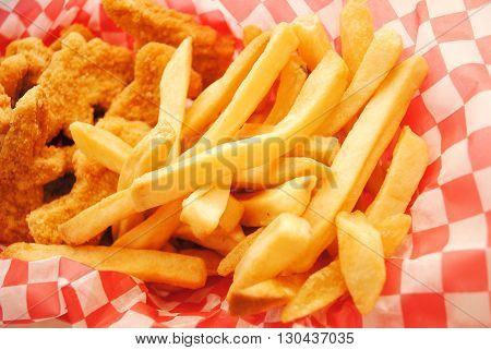 Take Out French Fries as Part of an Unhealthy Meal