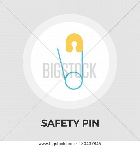 Safety pin icon vector. Flat icon isolated on the white background. Editable EPS file. Vector illustration.