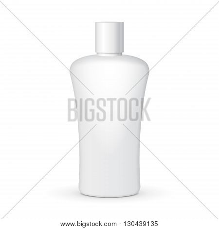 Cream, Shampoo, Gel Or Lotion Plastic Bottle On White Background Isolated. Mock Up Template Ready For Your Design. Product Packing Vector EPS10