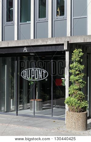 Aarhus, Denmark - May 16, 2016: Du Pont offices in Aarhus, Denmark. DuPont is one of America's most innovative companies and it is an American chemical company that was founded in July 1802 as a gunpowder mill.