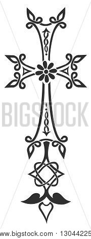 crosses crucifix illustration. religious design elements illustration