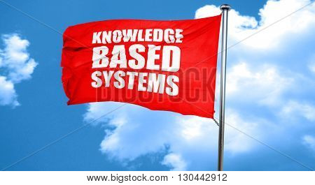 knowledge based systems, 3D rendering, a red waving flag