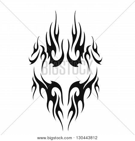 Black tribal tattoo. Illustration tattoo without transparency.