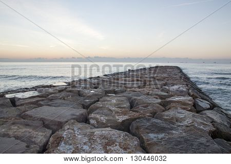 Mediterranean Sea in Castellon de la plana, Spain