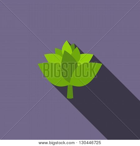 Hop cone icon in flat style with long shadow
