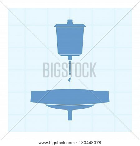 Lavabo. Device for the washing of hands. Vector illustration