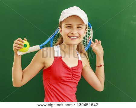Tennis - young girl tennis player