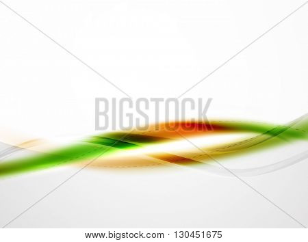 Rainbow color glossy silk elegant wave. Vector abstract background