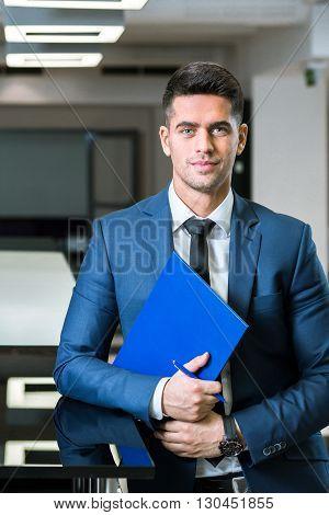 Success-oriented Sales Representative At Work