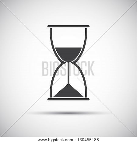 Simple black hourglass icon, modern vector illustration